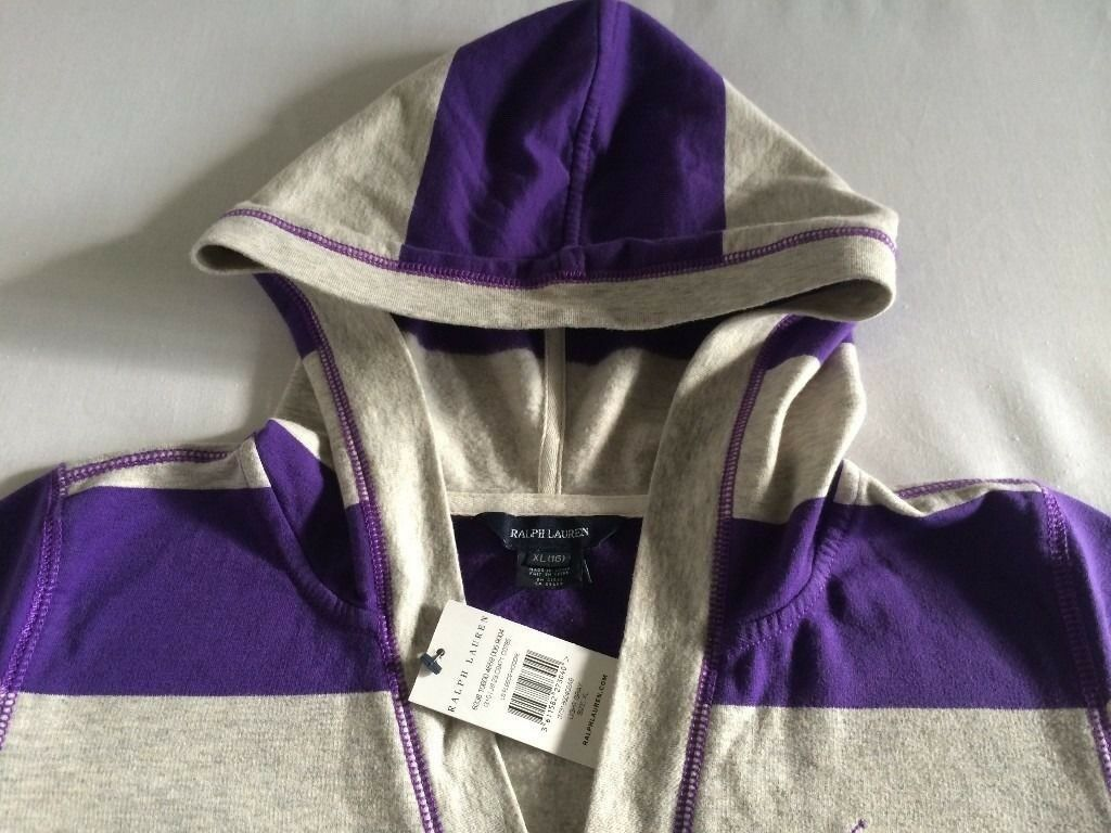 Brand New Ralph Lauren Polo Kids Girls XL 12-13Yr OVER 50%OFF Fleece Pullover Hoodie £30 100sales