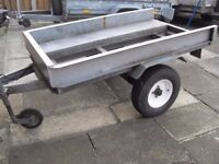 heavy guage galvanised steel trailer 5ft 6 inch x 3 ft was a quad trailer with ramp