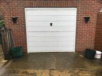 White garage door size 224 cm wide x204 cm