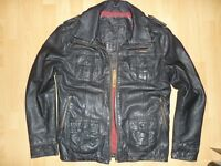 SUPERDRY BRAD leather jacket size L