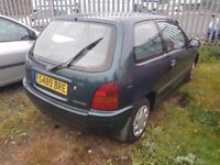 TOYOTA STARLET 1.3 RARE CLASSIC RELIABLE CAR, SMOOTH ENGINE AND GEARBOX ( ANY OLD CAR PX WELCOME )