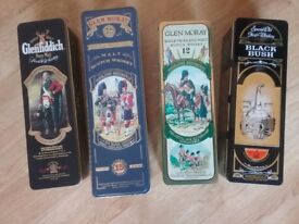 Whiskey collectible tins
