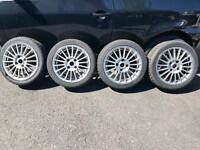 "15"" alloy wheels and tyres 4x108 ford Peugeot citreon saxo 106 fiesta"