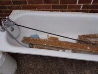 Vintage steel bath in need of a home