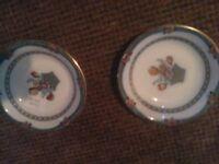 antique staffordshire, wedgewood plates blue & white, glassware, Tudor, vale, casillo, doulton.