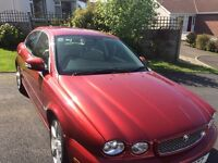 Jaguar X Type Red 4 Door Saloon Full Service history 4 new tyres. Just passed M.O.T No Faults
