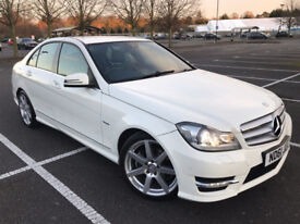 MERCEDES-BENZ C 220 AMG SPORT AUTOMATIC WHITE 2012
