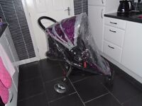 Baby jogger city mini with matching footmuff & new raincover