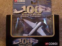 Corgi showcase collection 100 years of flight global traveller
