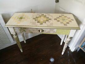 Decoupaged hall table