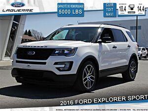 2016 Ford Explorer **SPORT*AWD*CUIR*TOIT *NAVI*CAMERA*A/C 2 ZONE