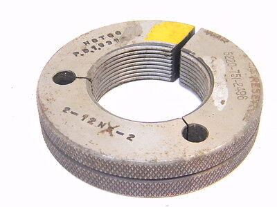 Used Taft Pierce Thread Ring Gage 2 X 12 N2 Nogo P.d. 1.939