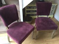 2 X HALO DINING ROOM CHAIRS
