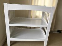 Mothercare white changing table