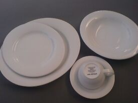 NEW* 20 Piece White Tableware Set - 'Duo' By Over & Back