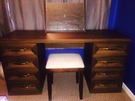 Solid wood walnut dresser