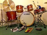 Tama Silverstar 5 Piece Kit plus Hardware, Ride Cymbal and Extras in Excellent Condition