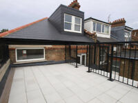 An amazing split level 3 double bedroom 2 bathroom flat with private terrace in West Hampstead