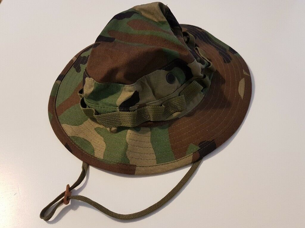cdbc1b8a MIL-SPEC-H-43577 Hat Sun Hot Weather Type II Camo Camouflage Hat Size 7 1/2  USA