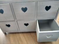 heart-shaped chest of drawers