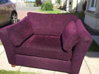 Purple Snuggle Chair