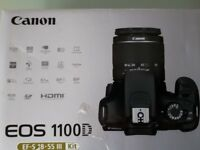 Canon EOS 1100D EF-S 18-55 IS II lens