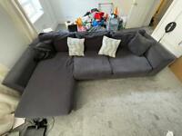 Grey L Shaped Sofa