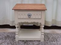 Solid Oak Painted Lamp Table