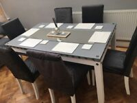 Stylish Upcycled Dining Table & 6 Chairs