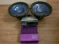 In Car Alpine CD radio,Kenwood loudspeakers,+GIFT :Jet sound amplifier