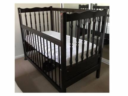 Solid Timber Victorian Antique Style Cot