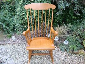 Classically Styled Solid Hardwood Rocking Chair.