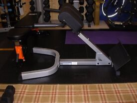 Body Solid 45 degree hyperextension bench. Model number: BSGHYP345