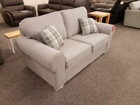 Ex Display 2.5 Seater Sofa Light Grey Can Deliver View Collect Hucknall Nottingham