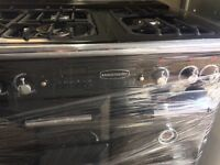DUAL FUEL RANGEMASTER GAS COOKING RANGE 90cm WIDE DOUBLE OVEN WITH GRILL FREE DELIVERY AND WARRANTY