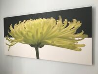 Painting of flower on canvas