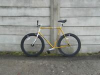 Novy Fixed Gear Bike Large Gold Black