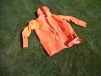 ORANGE WATERPROOF CLOTHES I THINK ALL L/XL---READ DESCRIPTION