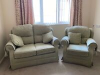 Two seater settee and armchair