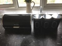 Russell Hobbs bread bin and canisters