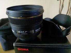 Sigma 50mm F1.4 EX DG Nikon fit