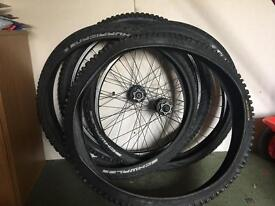 4x tyres & 2xrims for bicycle