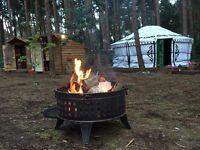 Yurt glamping, camping, North Norfolk coast, holiday, tipi, tent.