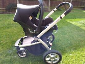 Mothercare MY4 pram/buggy with car seat and easy base