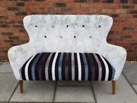 2-Seater Sofa - Mid Century Style