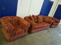 DURESTA MAXIMUS SET 3 SEATER SOFA / SETEE / SUITE & 2 ARMCHAIRS / CHAIRS CHESTERFIELD STYLE DELIVERY