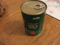 18 tins dog food