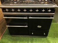 Lacanche Macon Range cooker Large Oven black and chrome INC VAT