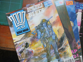 2000 AD Judge Dredd – Comic – Graphic Novel – 687 Bundle – Battlefield Blues