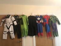 Kids fancy dress up Disney collection bundle Star Wars Spider-Man hulk marvel avengers with masks